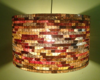Chandelier Lighting Lamp Custom Lampshade Recycled Coffee Filter Lampada