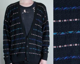 oversized knit cardigan - L