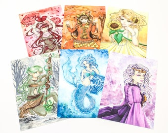 Color Series ORIGINAL Artwork - Illustrated by Jessica Thomas