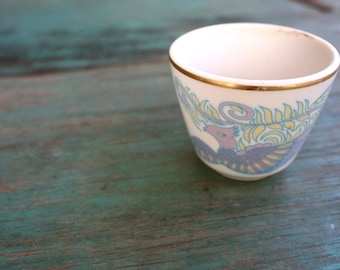 Syracuse China Bird Cup, Pastel Bird Decor, China Cup, Succulent Planter, Vintage Syracuse China