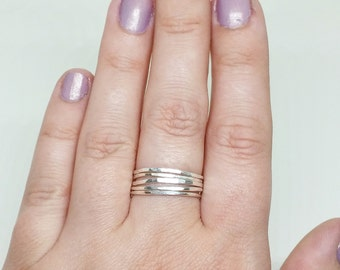 14k Gold, Sterling Silver, or 14k Rose Gold Rings - You Choose - Stackable Rings - 14k Gold Stacking Rings - .925 Sterling Silver Rings