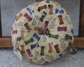 Primitive Bones & Paws Pin Keep Bow Wow Pin Cushion Ornament Gift