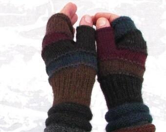 Dark Men fingerless gloves Outlander Inspired accessories men's arm warmers Men's mittens Gift for boyfriend hand knit hand warmers For HIM
