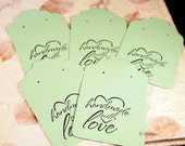 Mint Green Earring Cards, Card Stock Paper Earring Cards, 20 Earring Cards, Supplies, Earring Packaging CKDesigns.US