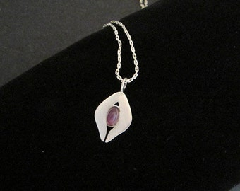 Dainty Sterling Amethyst Pendant Necklace