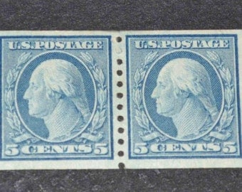 US  Stamp 1914-1916  #458 MH catolog value sixty dollars sale ten dollars off