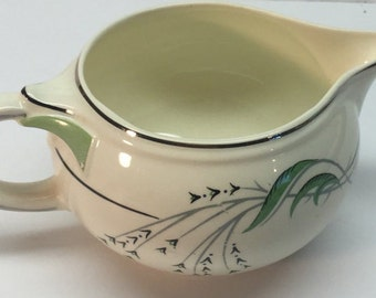 Green Wheat Creamer Pitcher Taylor Smith Taylor Green Wheat with Platinum rim