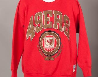Vintage 90s San Francisco 49ERS Football Sweatshirt - NUTMEG - XL