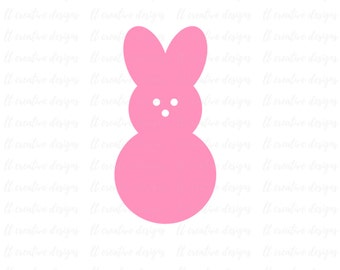 Peep SVG, Easter SVG, Easter Bunny SVG, Svg File, Siilhouette Cut Files, Cricut Cut Files