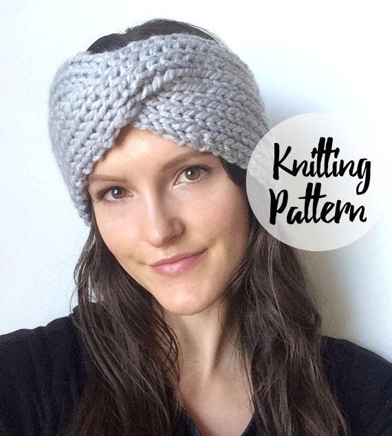 Twist Headband Knitting Pattern : Knitted Twist Turband Headband Pattern / Easy Cable Knitting