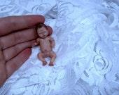 Lifelike Miniature 1/12 scale OOAK baby boy ORIGINAL Art Doll/ Realistic Hand-Sculpted Dollhouse Newborn / by Baloo Hallow