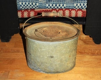 Antique Minnow Bucket Rustic Farmhouse Decor