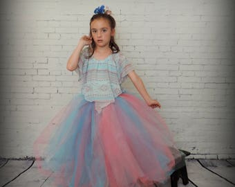 Tutu for Girls trending now floor length tulle skirt, flower girl tutu, flower girl tulle skirt, birthday tutu special occasion dress