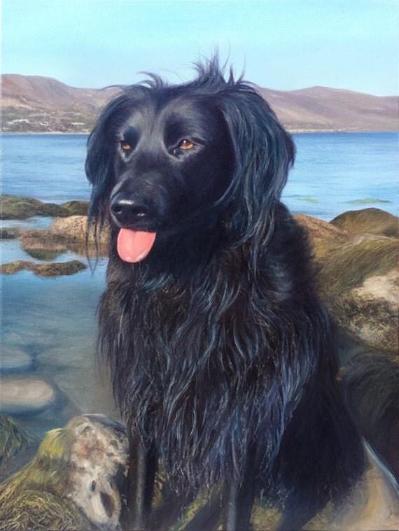 Custom Pet Portrait - CUSTOM DOG PAINTING - Pet Painting - Oil Painting