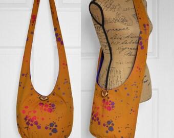 Hobo Bag Boho Bag Crossbody Bag Hippie Purse Sling Bag Hobo Purse Bohemian Purse Batik Hobo Bag Slouchy Purse Handmade Bag Batik Boho Purse