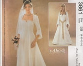 Lovely Gown Pattern McCalls 3861 Sizes 8 - 14 Uncut