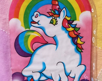 RARE Vintage 1989 LISA FRANK Unicorn Pencil Pouch