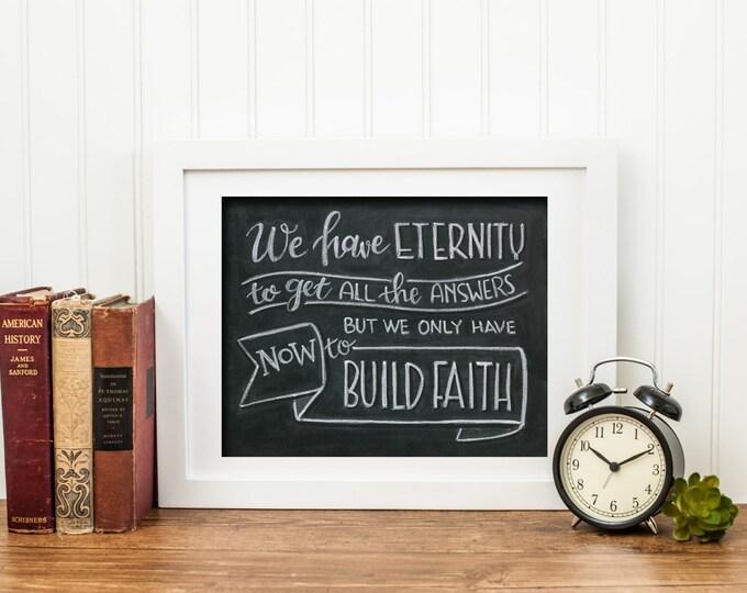All Eternity - A Print of an Original Chalkboard