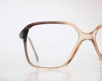 Vintage 70's unisex square smokey brown frames