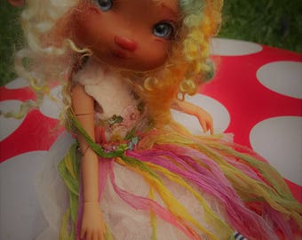 large 26cm jointed doll fully dressed sweet  ooak posable tan  skin    fairy fairie fae