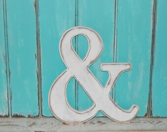 Wooden Ampersand And Sign Distressed Made To order Photo Props