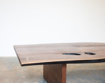 In Stock Coffee Table - Live Edge Walnut Slab by Dylan Design Co.