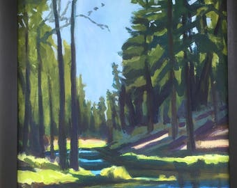 Oregon Landscape Original Painting Fall River Sanctuary