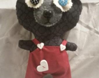 Cute Felt PLUSHIE plush Toy Handmade OOAK Puppy Dog Wonderland Animal