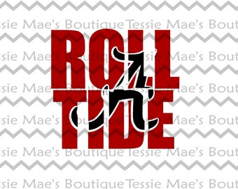 SVG, DXF, EPS, Alabama Knockout, Roll Tide Knockout, Knockout, TessieMaes, Sports, Football, Scrapbooking, Cuttable, Silhouette, Cricut,