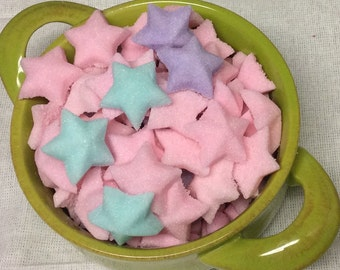 Colored Sugar Cube Stars for Weddings Baby Showers and Party's to go with Coffee or Tea Service