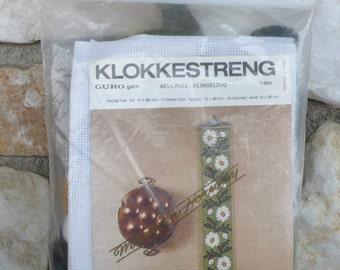 Vintage Guro Klokkestreng Bell Pull Norway