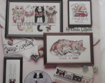 Cat Purr-sonalities in Cross Stitch by Linda Gillum- American School of Needlework #3588