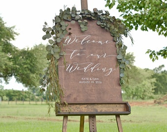 Welcome to our Wedding, Welcome sign Wedding, Wedding welcome sign, Welcome sign for wedding, Wooden Welcome Sign, personalized welcome sign