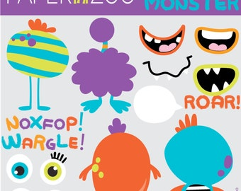 Build a Monster CLIP ART Set by Paper Zoo Printables