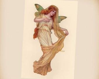 Victorian Fairy - New 4x6 Vintage Image Photo Print - FR005