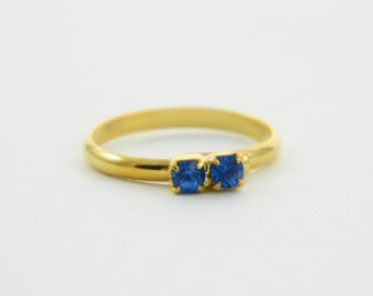 Sapphire Two Stone Midi Ring
