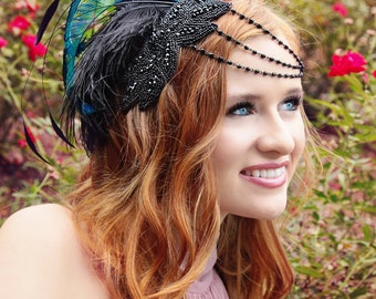Party at Gatsby's Jet Black Fascinator