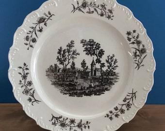 Antique Creamware Feather Edge Plate c1770