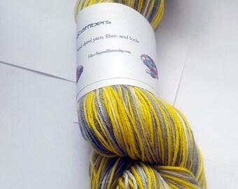 Cloudy Skies luxury sock yarn 450 yards, super wash merino, nylon, and angora