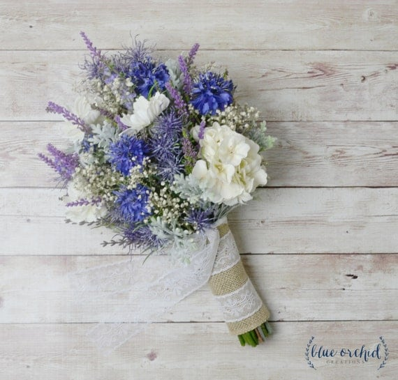 Wild Flower Wedding Bouquet: Wildflower Bouquet Lavender Bouquet Bridal Bouquet Rustic
