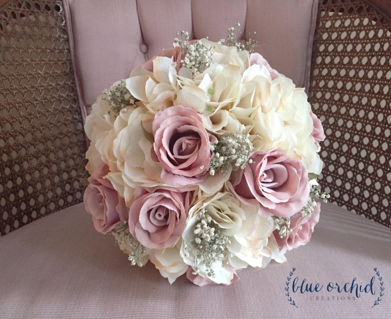 bridal bouquet rustic bouquet dusty rose bouquet baby 39 s. Black Bedroom Furniture Sets. Home Design Ideas