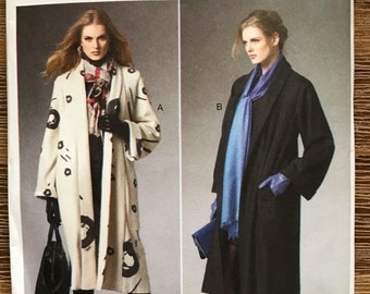 UNCUT Misses' Jacket, Coat Sewing Pattern Butterick 5960 Size XS-XXL Long Coat, Relaxed Fit, Front Pockets, Katherine Tilton