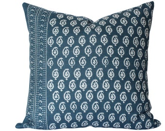 Peter Dunham Janpath Pillow Cover in Indigo