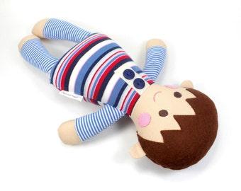 boy baby doll | baby rag doll | boy doll | Sammy doll |  first doll |  baby shower gift |  sleeping doll