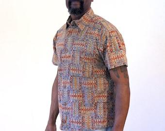 90s Orvis Batik Shirt, Batik Indian Shirt, Indonesian Style Shirt, Batik Print Shirt, S