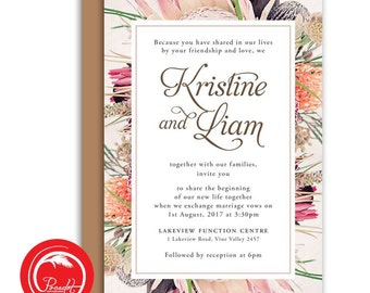 Native Australian Floral Invitation Set