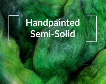 Handpainted Semi-Solid - Kettle Dyed Hand painted Spinning Fiber Tutorial