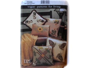 Vogue 7590 Patterns for Living TDS Texas Design Studio Felt Mission Pillows