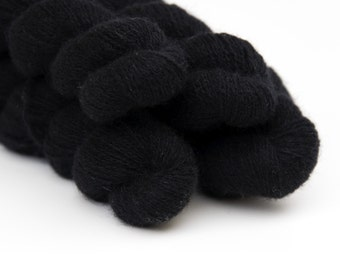 Remake: Reclaimed Laceweight Cashmere Yarn LOT, True Black, 1084 Yards