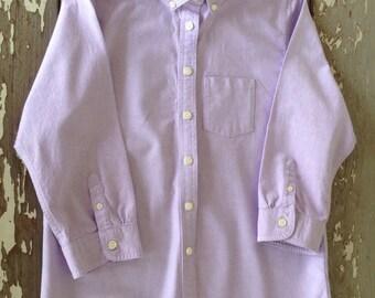 LL BEAN OXFORD-Ladies Shirt, Extra Small Ladies Shirt, Oxford Shirt, Purple Oxford Shirt,Purple Shirts,Preppy Shirts,College Shirts,